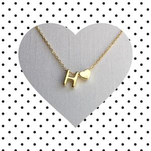 Jewelry - Letter H Initial Necklace